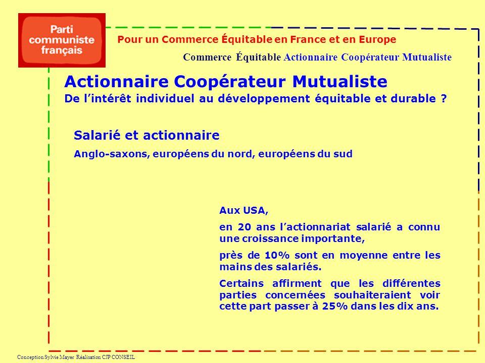 Commerce Équitable Actionnaire Coopérateur Mutualiste Pour un Commerce Équitable en France et en Europe Conception Sylvie Mayer Réalisation CJP CONSEI