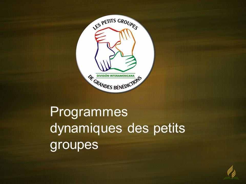 Programmes dynamiques des petits groupes