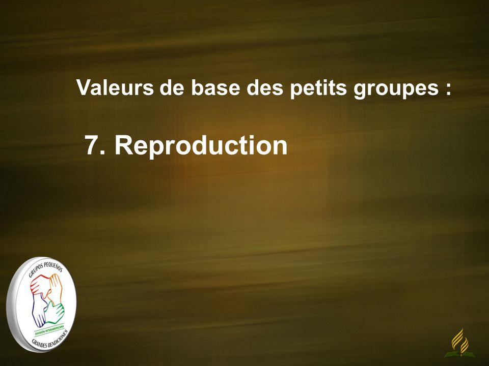 Valeurs de base des petits groupes : 7. Reproduction
