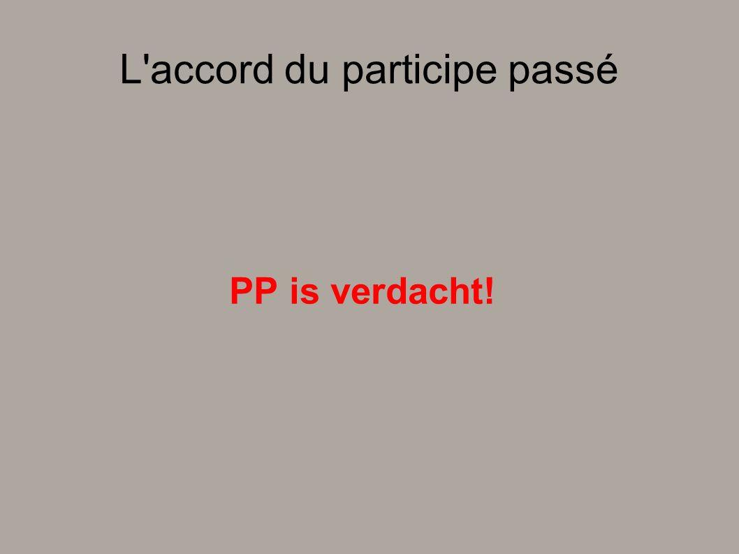 L'accord du participe passé PP is verdacht!