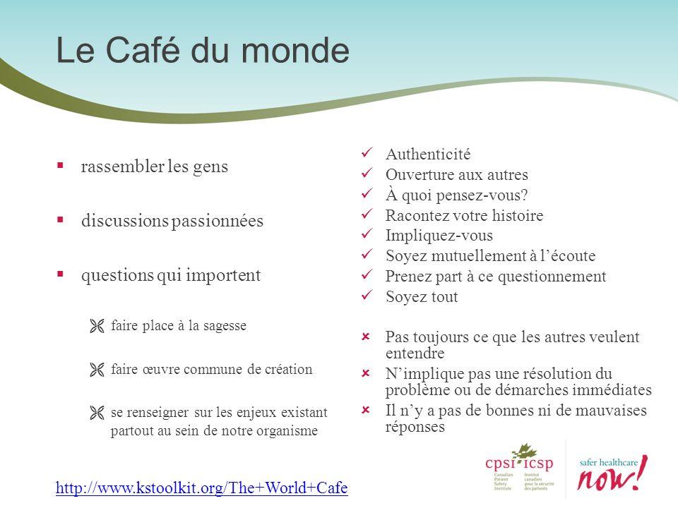 Le Café du monde rassembler les gens discussions passionnées questions qui importent faire place à la sagesse faire œuvre commune de création se rense