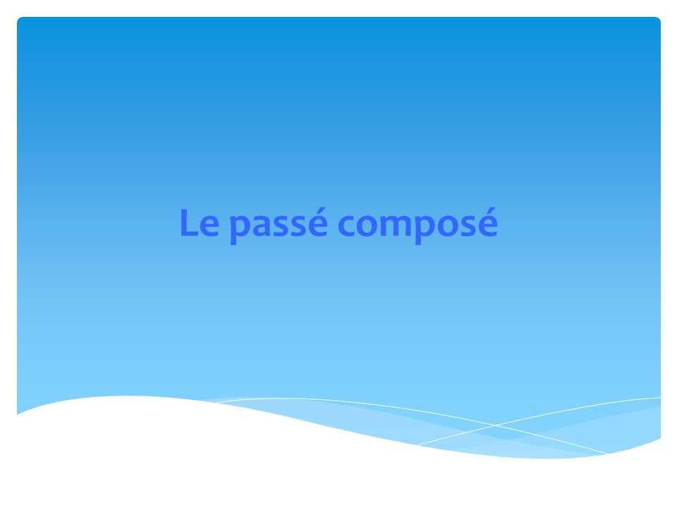 What is the past participle of: dit dire