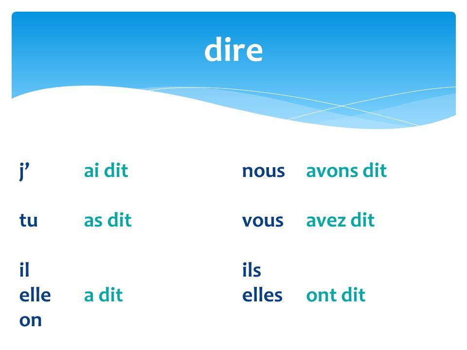 What is the past participle of: voulu vouloir