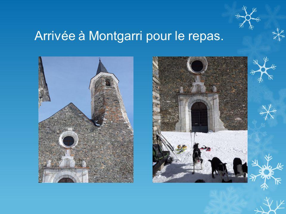 Arrivée à Montgarri pour le repas.
