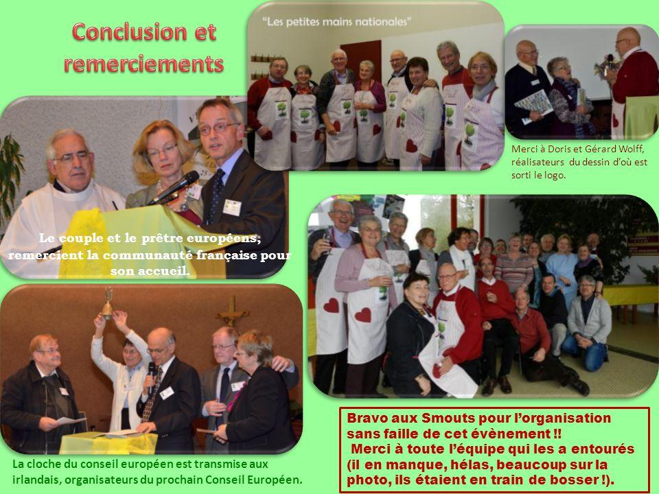 Le couple et le prêtre européens, remercient la communauté française pour son accueil.
