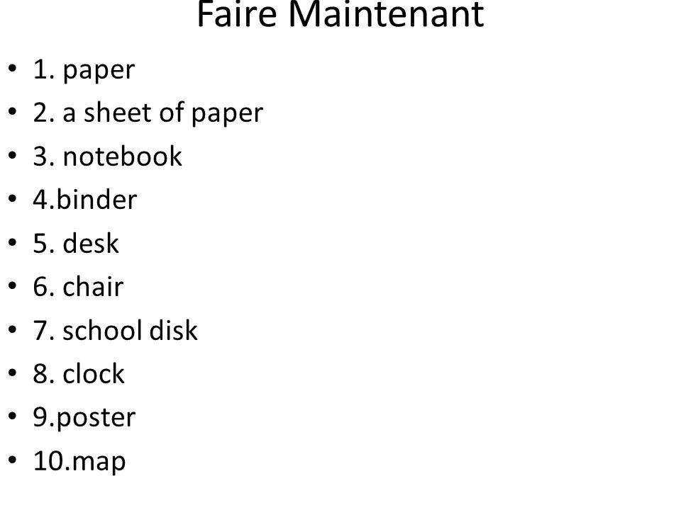 Practice 5.On __ une feuille de papier. On a une feuille de papier.