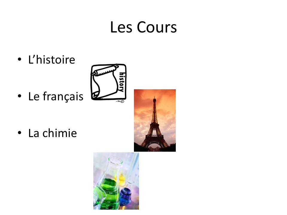 Les Cours Lhistoire Le français La chimie