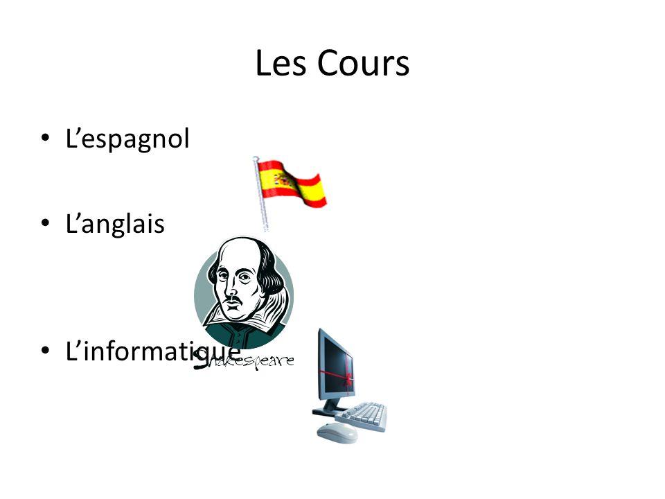Les Cours Lespagnol Langlais Linformatique