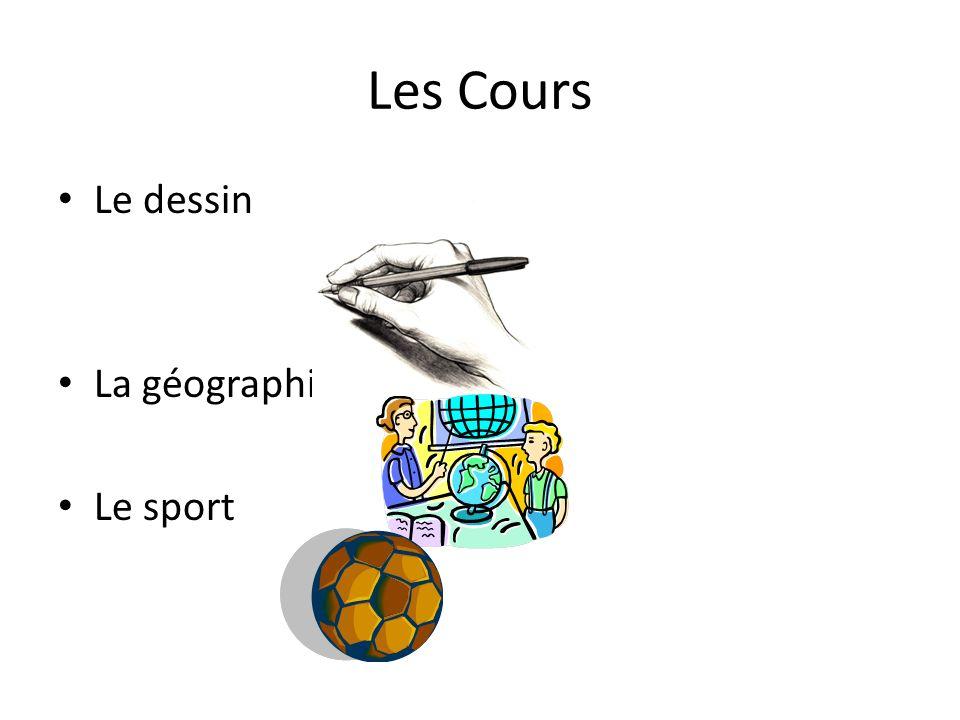Les Cours Le dessin La géographie Le sport