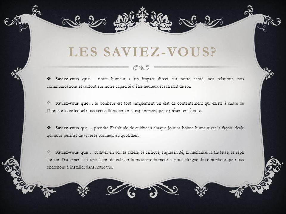 LES SAVIEZ-VOUS.