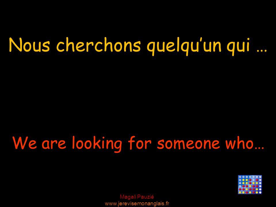 Magali Pauzié www.jerevisemonanglais.fr That would be fine. Cela me conviendrait.