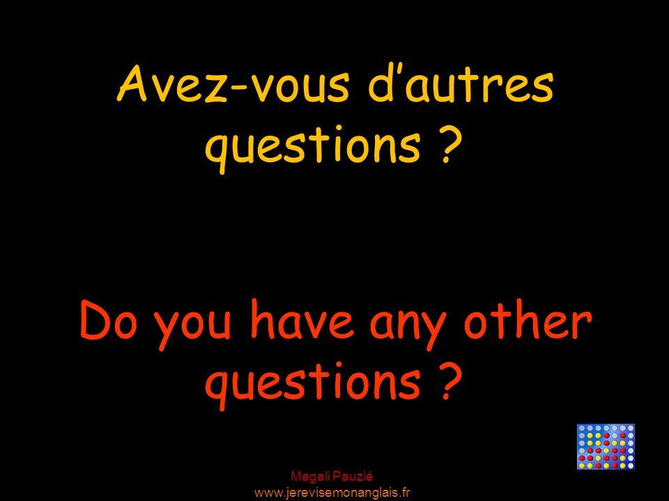 Magali Pauzié www.jerevisemonanglais.fr Thats fine with me. Cela me convient.