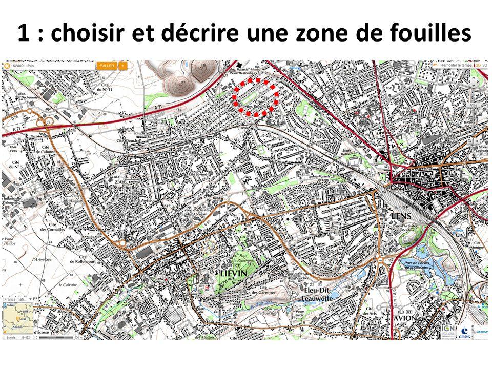 Observez cette zone avec les outils du Géoportail 1 : Aller sur le Géoportail, faire une requête sur Liévin.