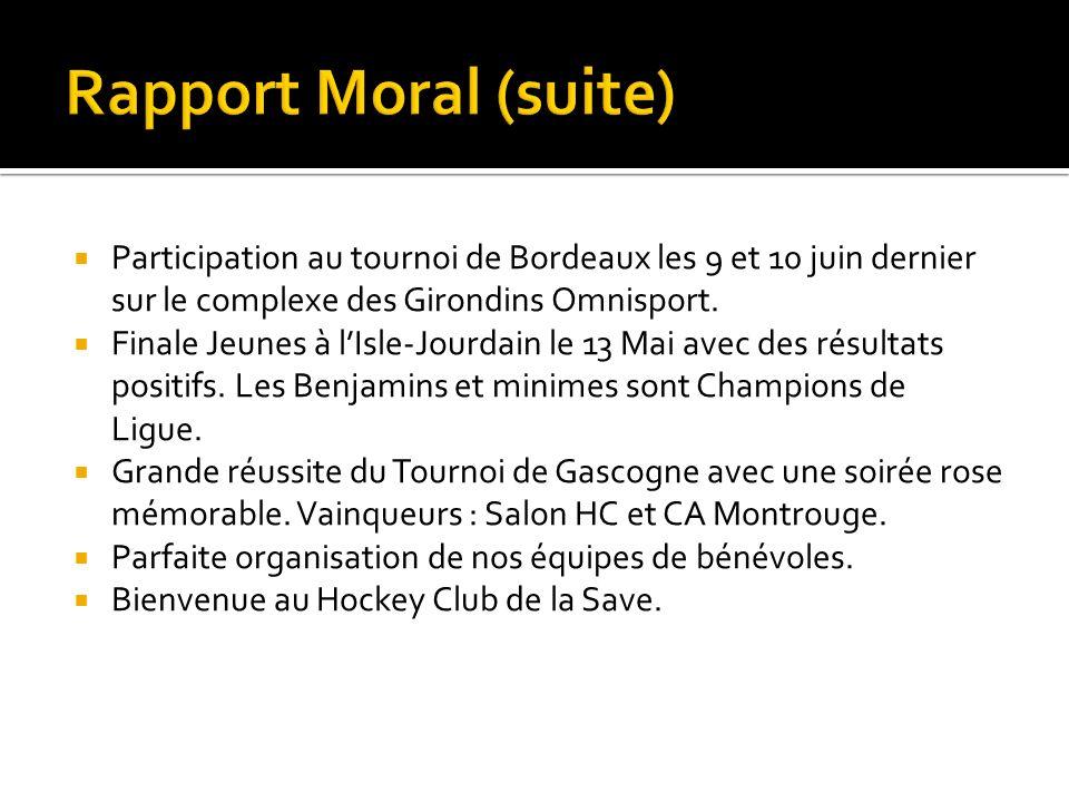Participation au tournoi de Bordeaux les 9 et 10 juin dernier sur le complexe des Girondins Omnisport. Finale Jeunes à lIsle-Jourdain le 13 Mai avec d