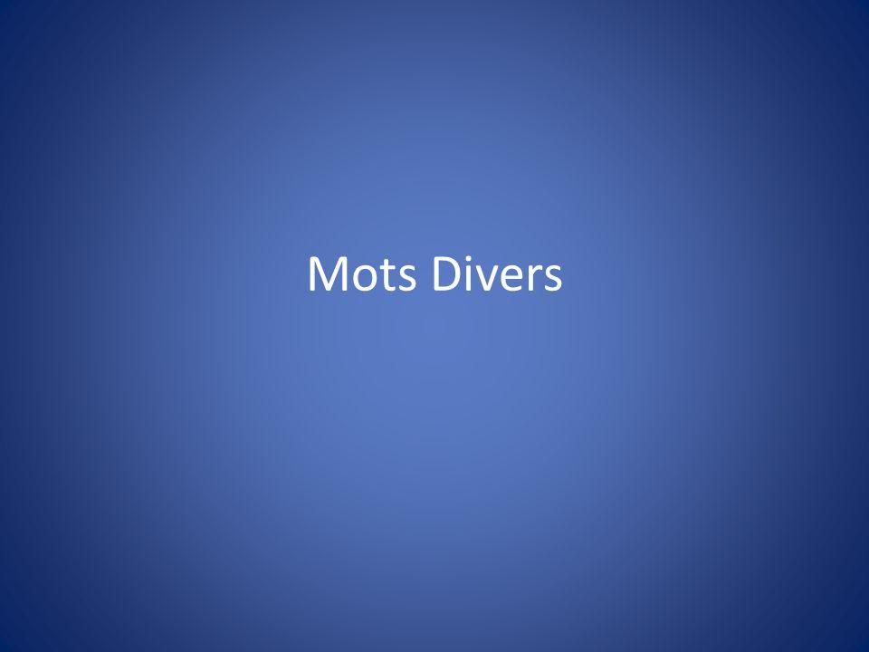 Mots Divers