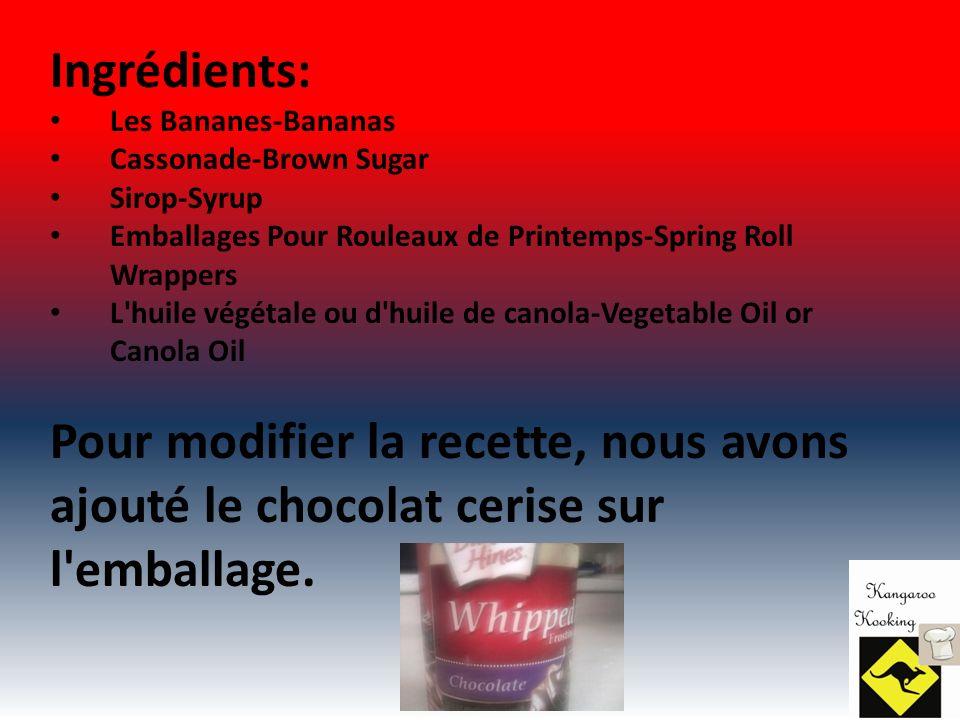 Si vous n êtes pas en mesure d obtenir lumpia wrappers comme nous, ici, c est la liste des ingrédients: 1 c.
