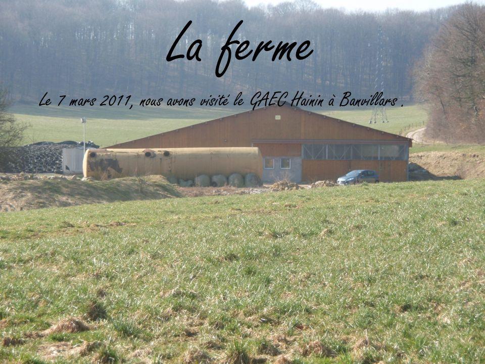 La ferme Le 7 mars 2011, nous avons visité le GAEC Hainin à Banvillars.