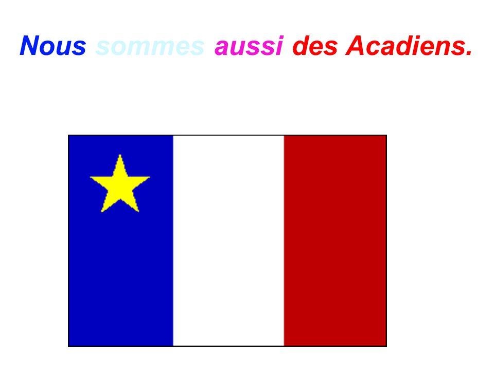 Voilà notre drapeau du Québec.