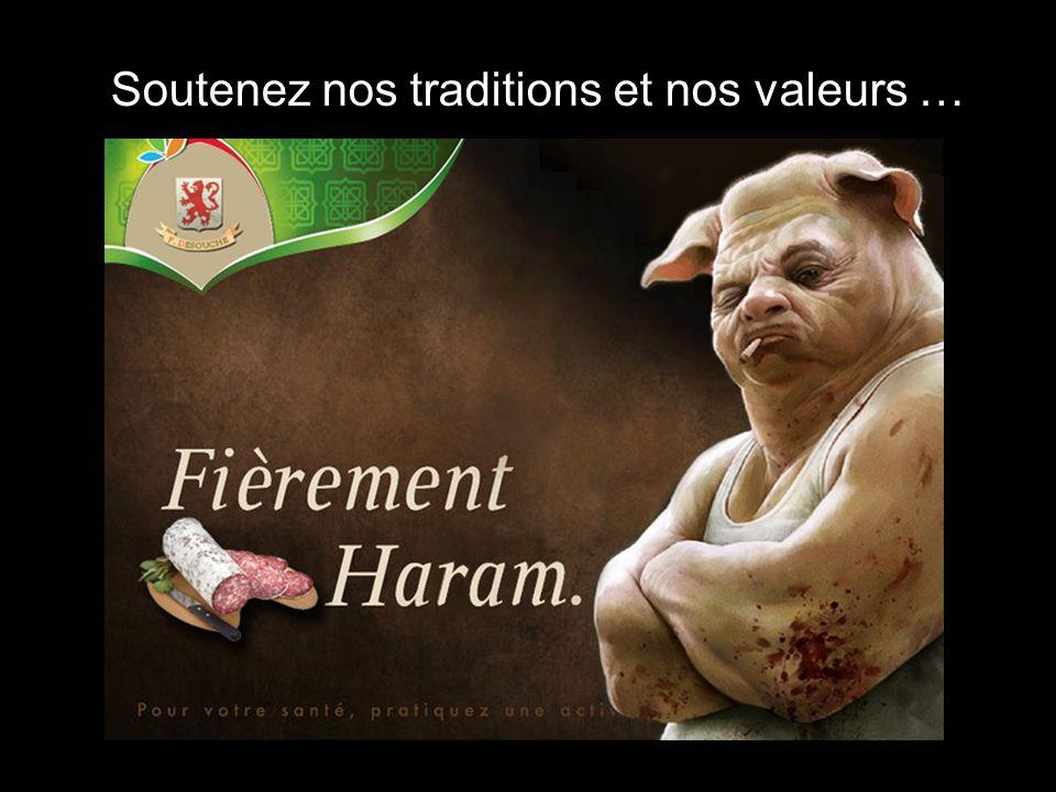 En conclusion …. Boycottez les produits Halal …. En les achetant, vous contribuez à enrichir les différents mouvements islamiques… Vous encouragez les