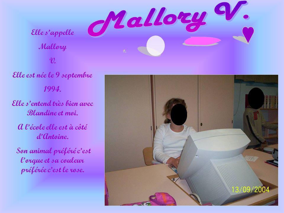 Elle sappelle Mallory V.Elle est née le 9 septembre 1994.