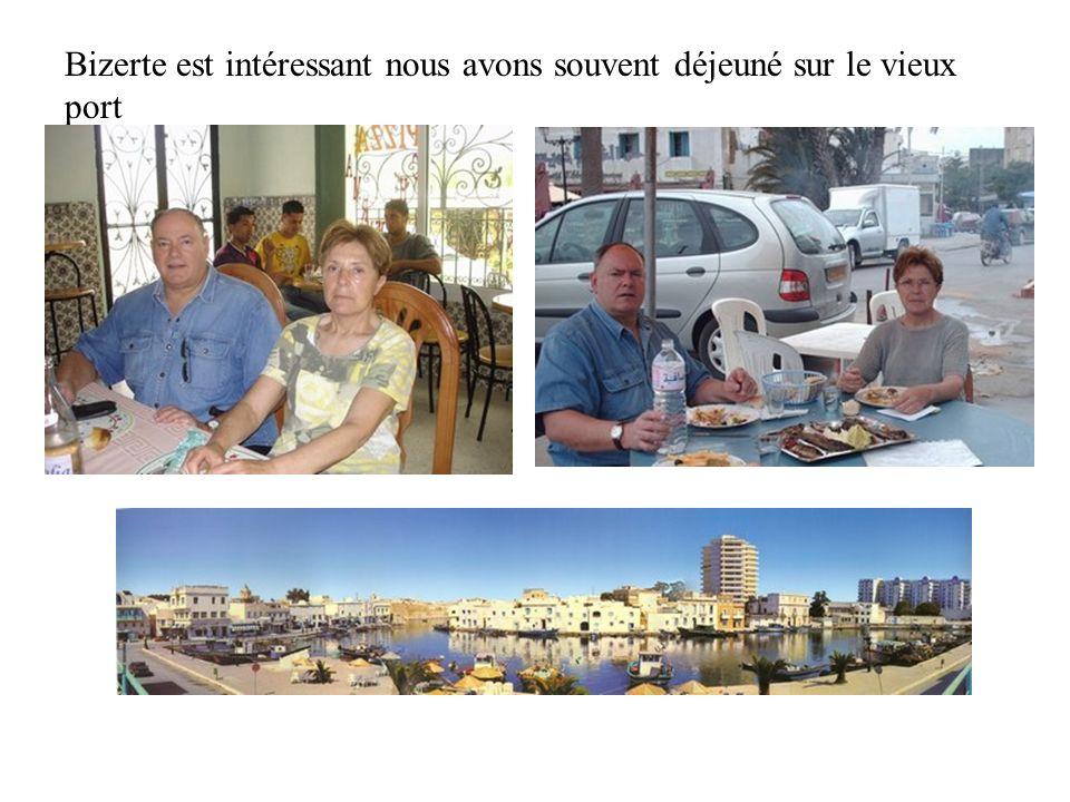 Du 25 au 30 mai nous avons pris nos quartiers à Bizerte, à lhôtel Sidi Salem,.prés du vieux port Hôtel très convenable, et dune accessibilité très acceptable, en demi pension 36 dinars par personnes.