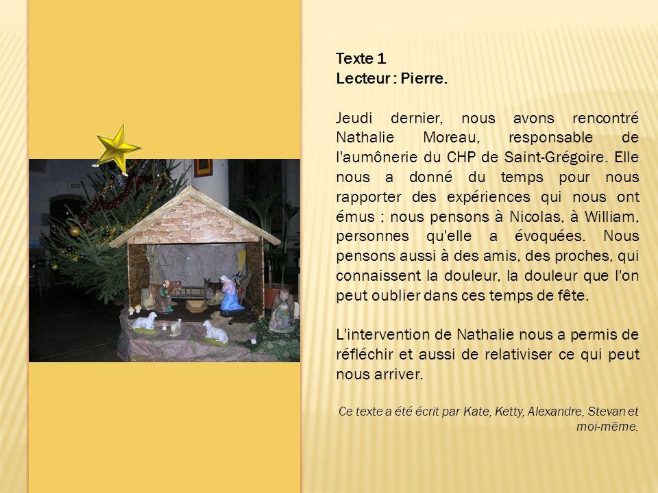 Texte 1 Lecteur : Pierre.