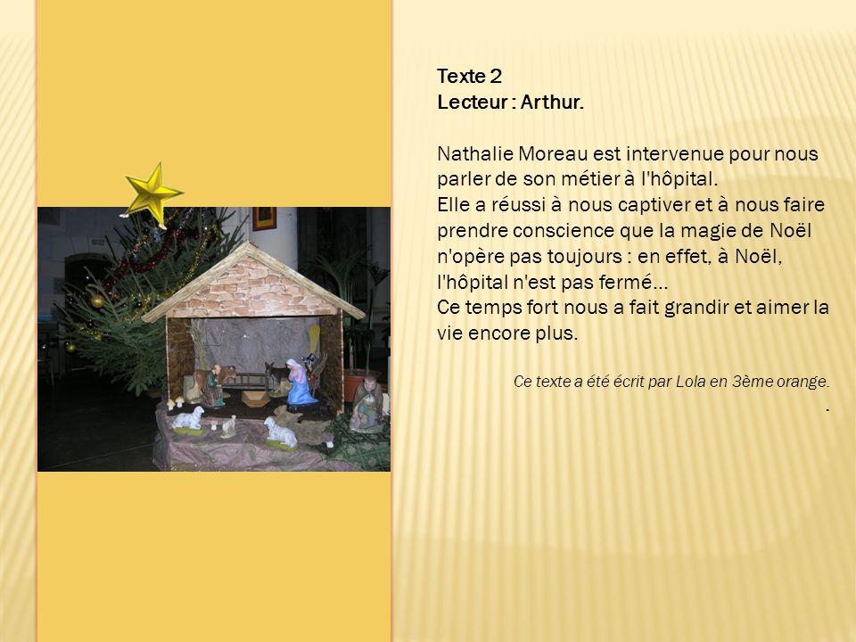 Texte 2 Lecteur : Arthur.