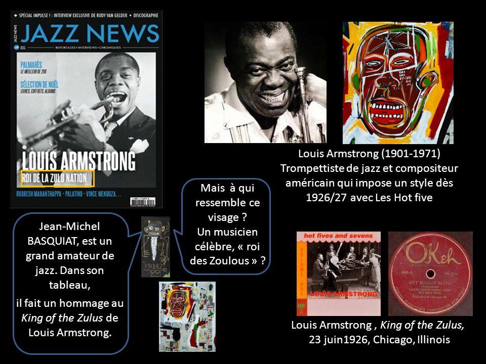 Louis Armstrong, King of the Zulus, 23 juin1926, Chicago, Illinois Louis Armstrong (1901-1971) Trompettiste de jazz et compositeur américain qui impos