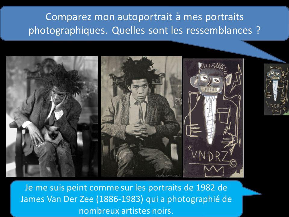 Comparez mon autoportrait à mes portraits photographiques. Quelles sont les ressemblances ? Je me suis peint comme sur les portraits de 1982 de James