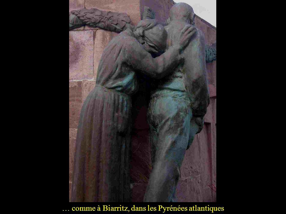 Enfin ces monuments disent aussi le chagrin des familles, à Lavaleix dans la Creuse…