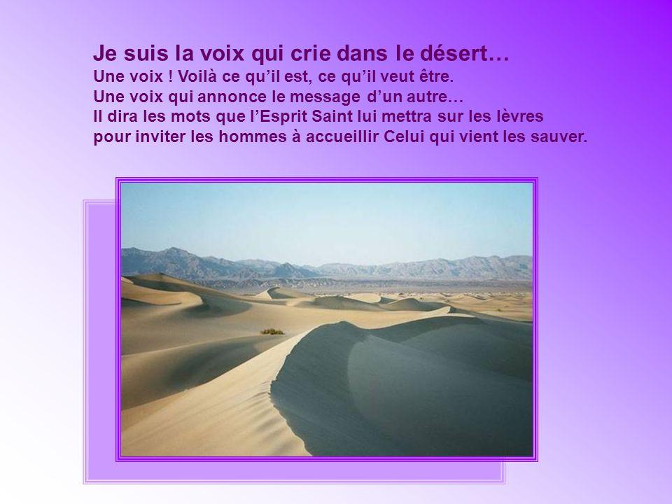 Je suis la voix qui crie dans le désert… Une voix .