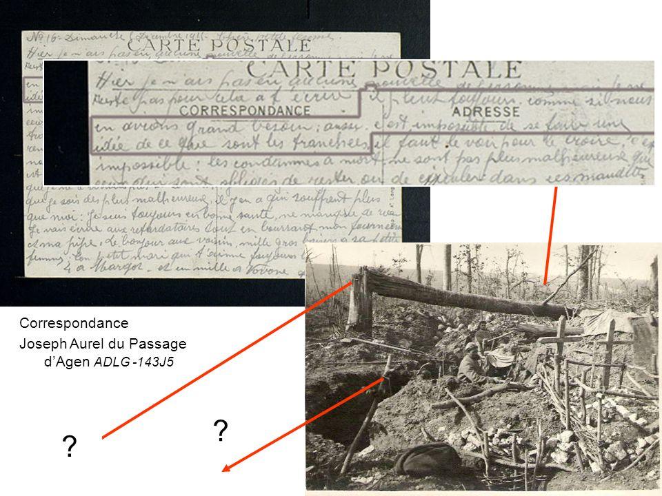 Correspondance Joseph Aurel du Passage dAgen ADLG -143J5 .