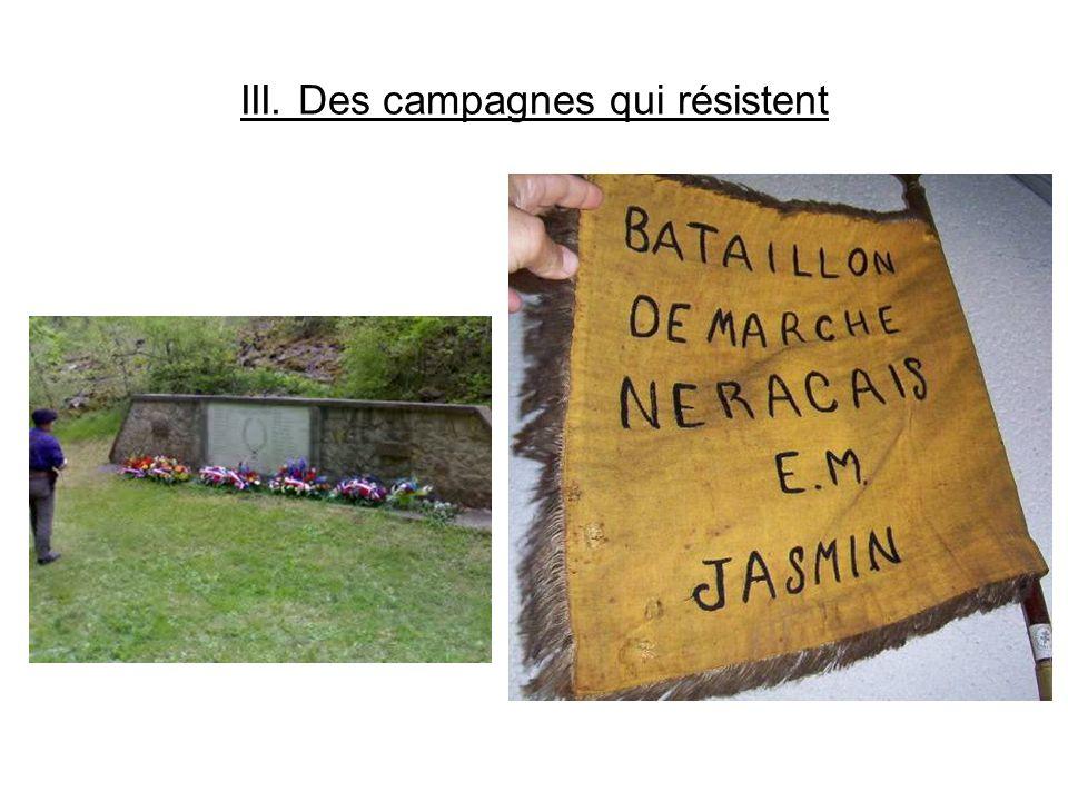 III. Des campagnes qui résistent