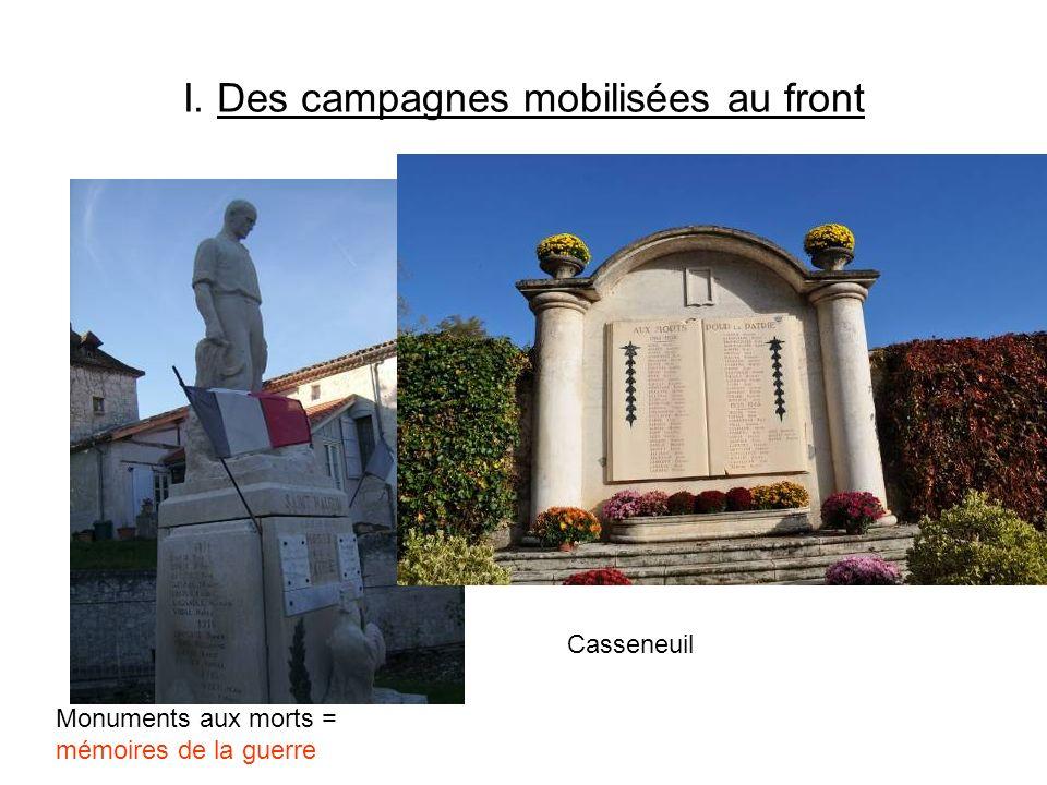 I. Des campagnes mobilisées au front Monuments aux morts = mémoires de la guerre Casseneuil