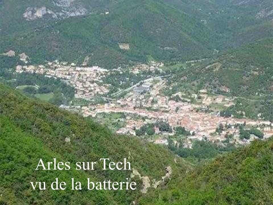 Arles sur Tech vu de la batterie