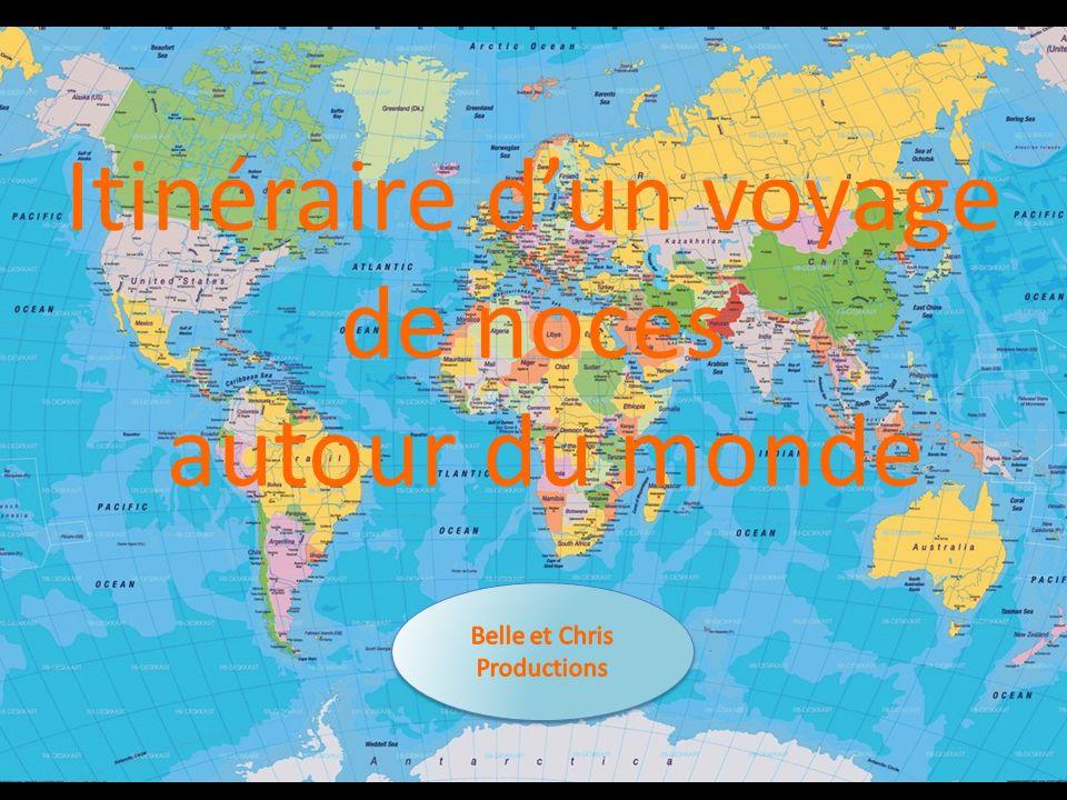 Itinéraire dun voyage de noces autour du monde