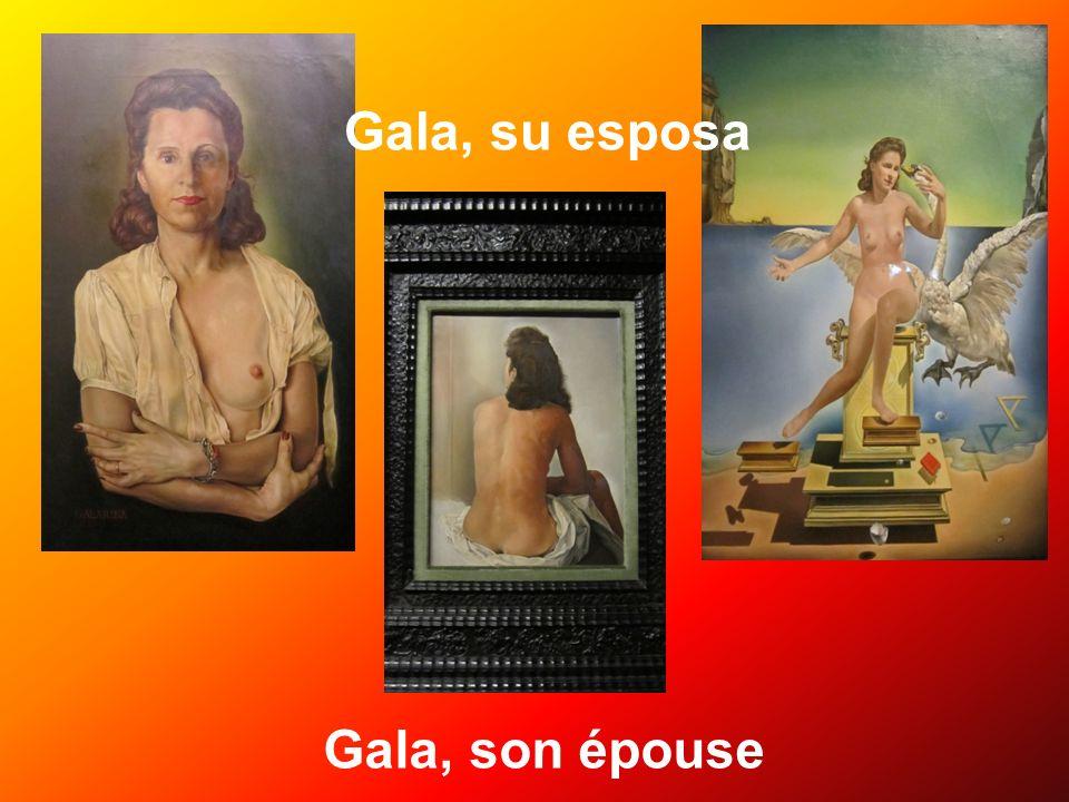 Gala, su esposa Gala, son épouse