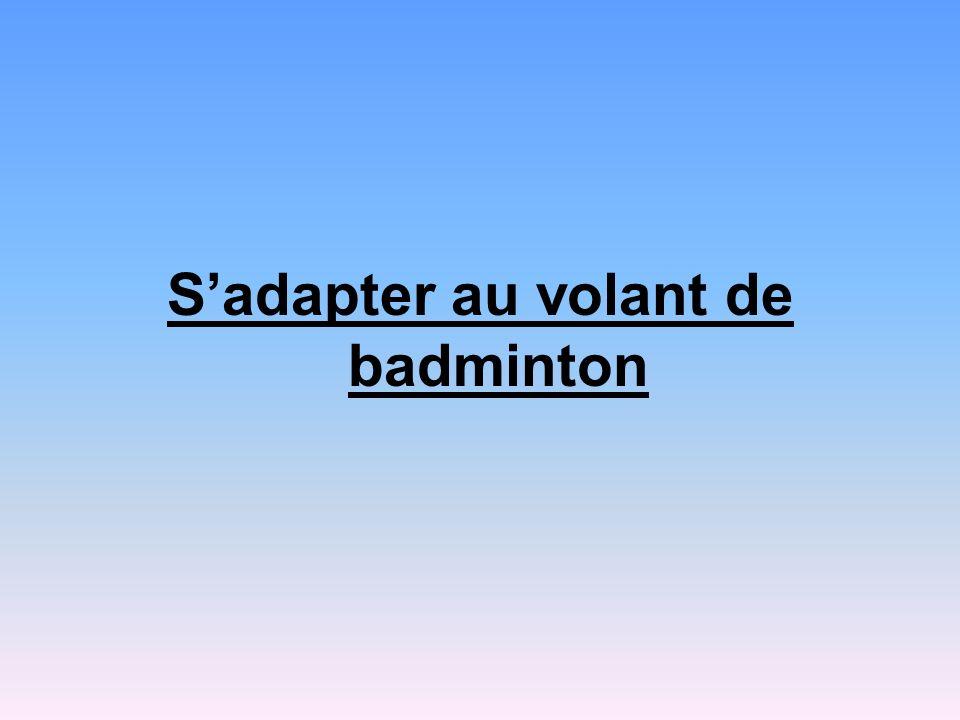 Sadapter au volant de badminton