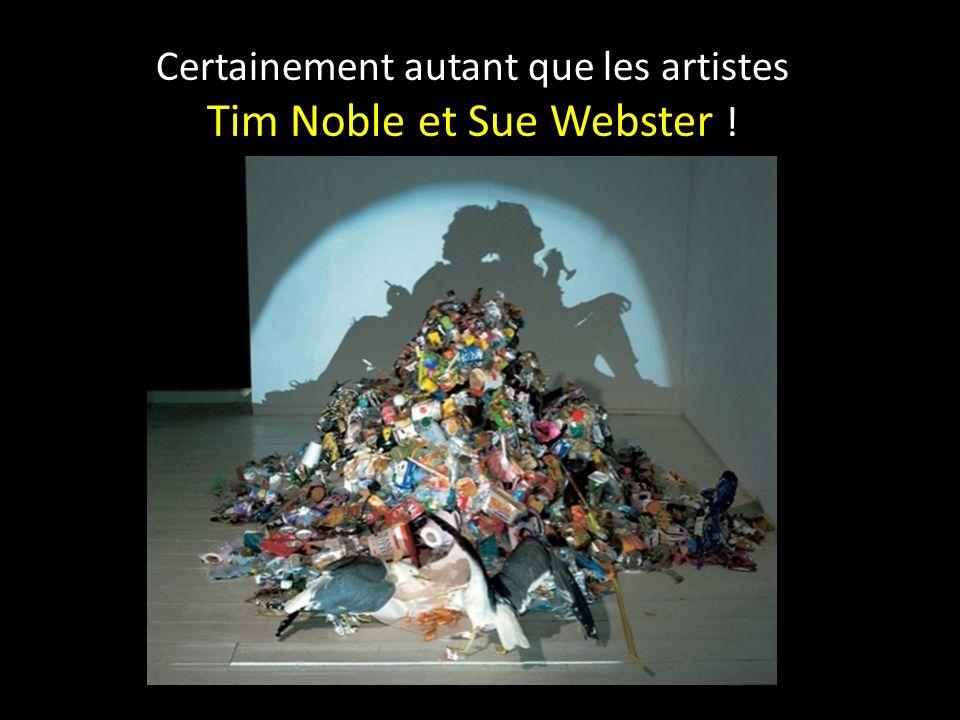 Certainement autant que les artistes Tim Noble et Sue Webster !