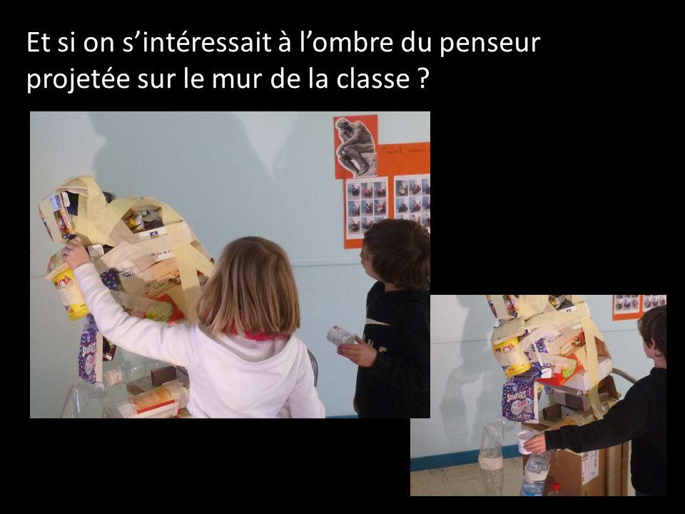 Et si on sintéressait à lombre du penseur projetée sur le mur de la classe ?