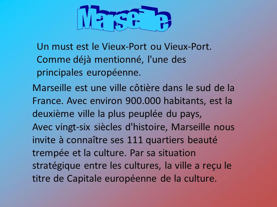 Marseille est une ville côtière dans le sud de la France. Avec environ 900.000 habitants, est la deuxième ville la plus peuplée du pays, Avec vingt-si