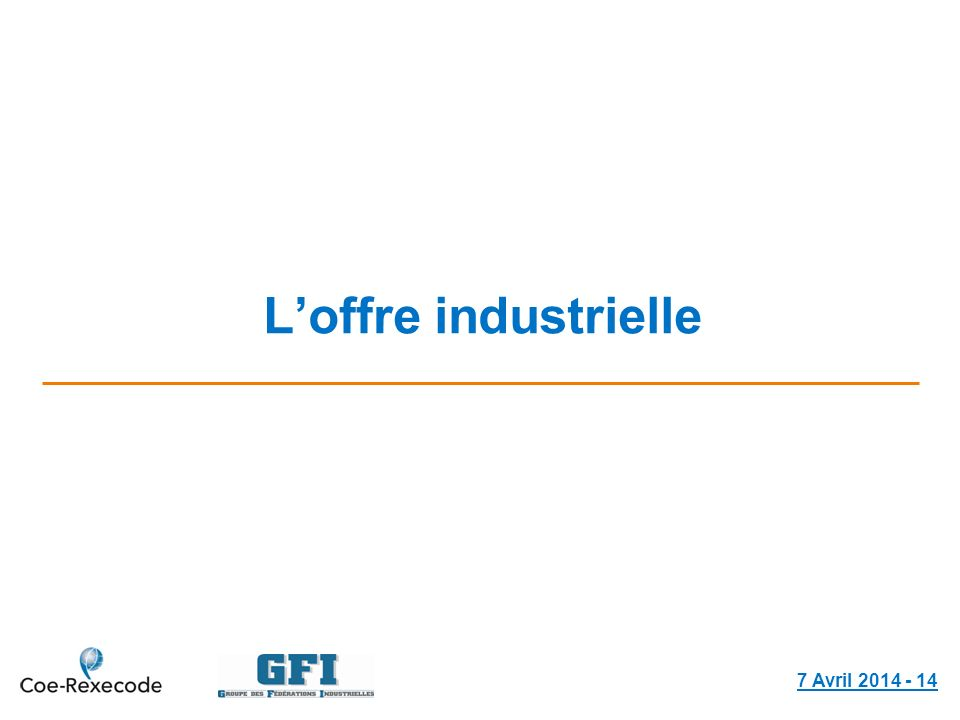 Loffre industrielle 7 Avril 2014 - 14