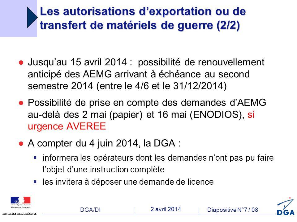 DGA/DI 2 avril 2014 Diapositive N°8 / 08 MINISTÈRE DE LA DÉFENSE Anticipation et maîtrise des risques Charge de travail élevée Nouveauté Imprévus RISQUES de BLOCAGE ANTICIPATION .