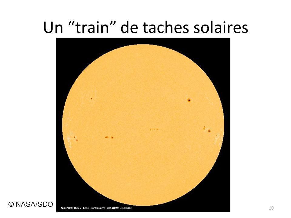 Un train de taches solaires 10 © NASA/SDO