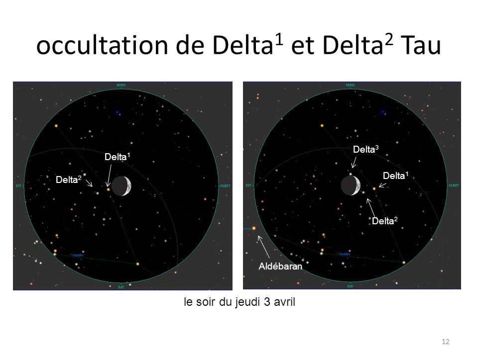 occultation de Delta 1 et Delta 2 Tau 12 le soir du jeudi 3 avril Dabih Junon 97 Tau Kappa Aqr 104 Tau 120 Tau 119 Tau 120 Tau 119 Tau Delta 1 Delta 2