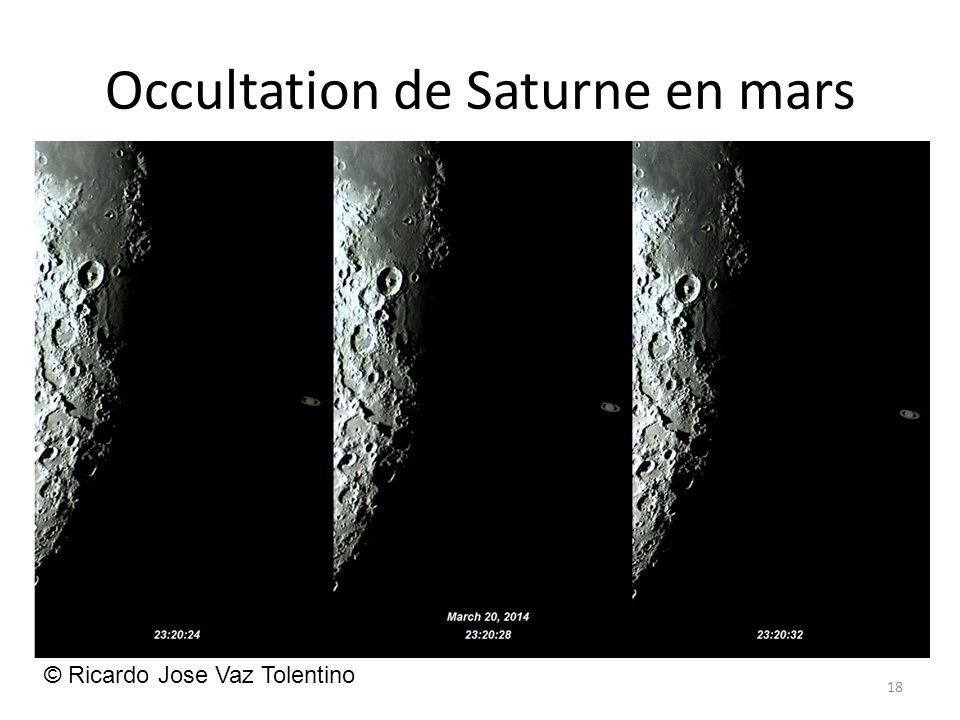 Occultation de Saturne en mars 18 © Ricardo Jose Vaz Tolentino