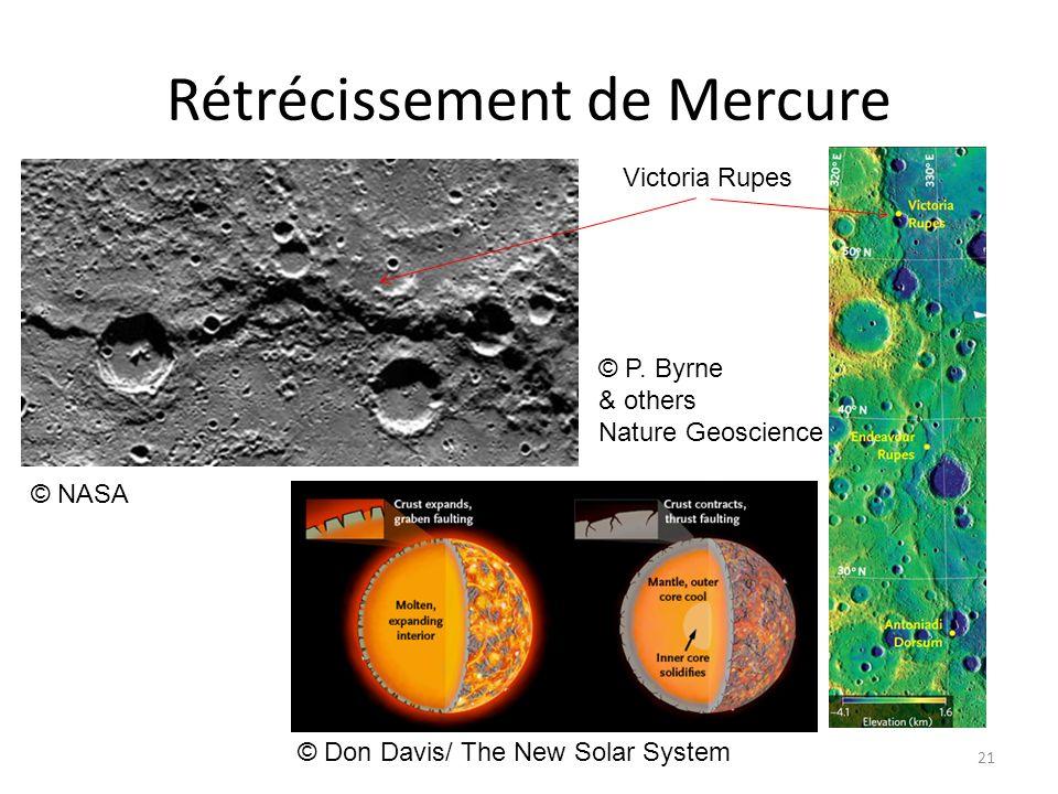 Rétrécissement de Mercure 21 © NASA © Don Davis/ The New Solar System © P. Byrne & others Nature Geoscience Victoria Rupes
