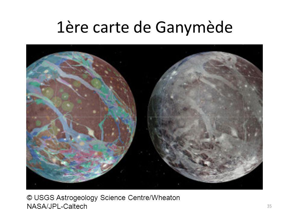 1ère carte de Ganymède 35 © USGS Astrogeology Science Centre/Wheaton NASA/JPL-Caltech