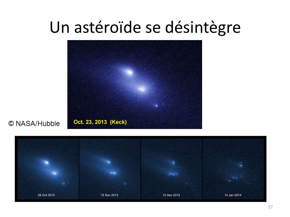 Un astéroïde se désintègre 37 © NASA/Hubble