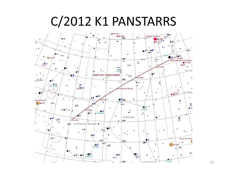 C/2012 K1 PANSTARRS 39